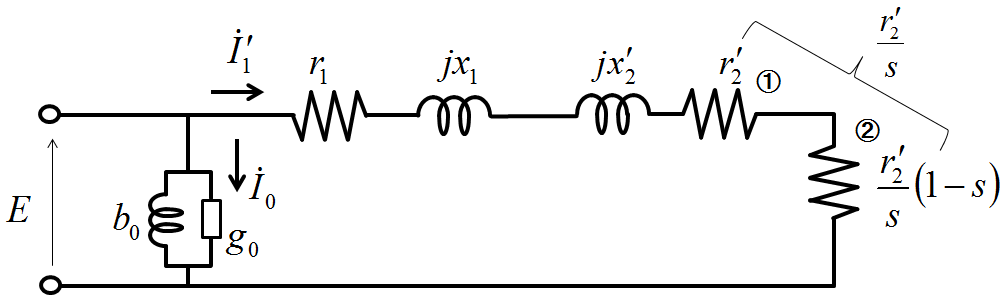 誘導機の等価回路